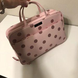 Kate Spade toiletries bag - pink/gold polka dots